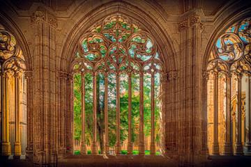 Vista del centro de Segovia, España