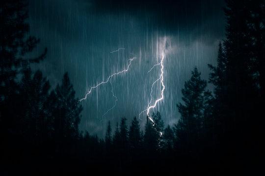 mountain lightning strike