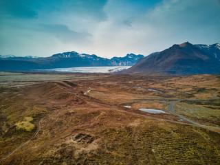 Aerial Drone image of Icelandic Glaciers