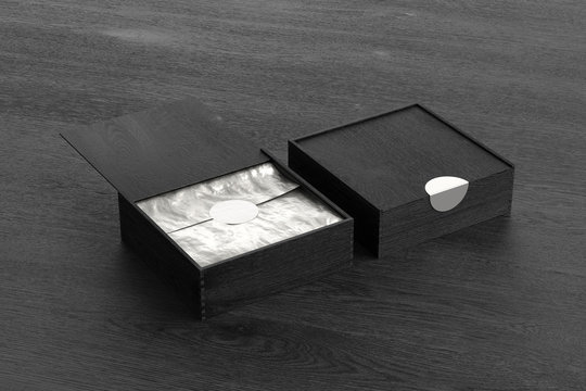 Wooden square boxes with sliding lid