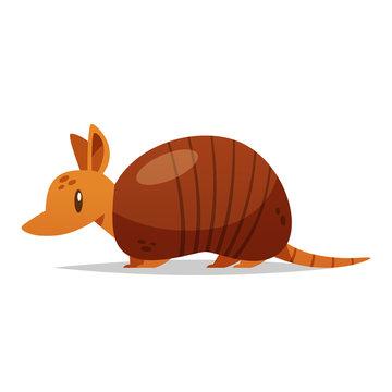 Cartoon armadillo vector isolated illustration