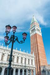 Fototapete - Campanile and St Mark's Square, Venice, Italy