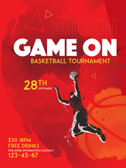 basketball tournament poster graphic template