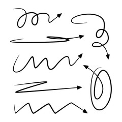 hand drawn and doodle arrows thin line