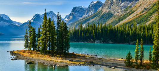 Wall Mural - Spirit Island in Maligne Lake, Jasper National Park, Alberta, Canada