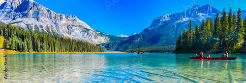 Wall mural Emerald Lake,Yoho National Park in Canada,banner size