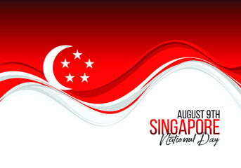 vector illustration August 9th Singapore's independence day. Singapore National Day. celebration republic, graphic for design element.