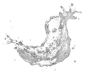 Wall Mural - water containing soap splashing