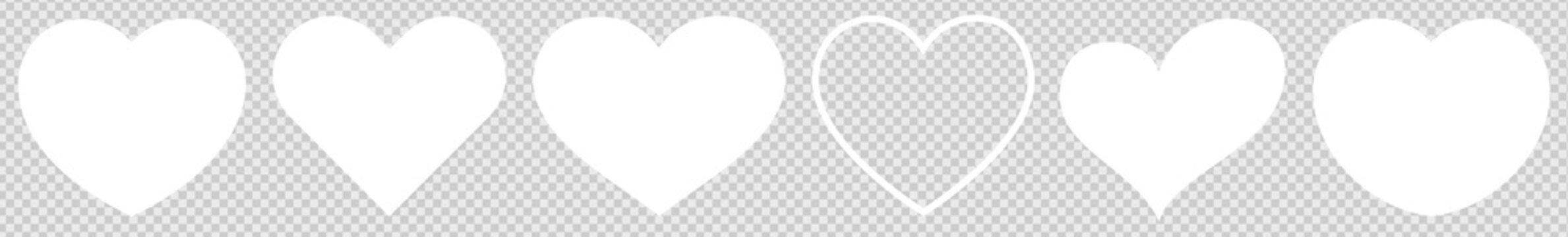 Heart White Bright Light | Love | Logo | Variations