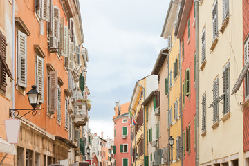 Rovinj, Istria, Croatia - Historic houses in the old town of Rovinj