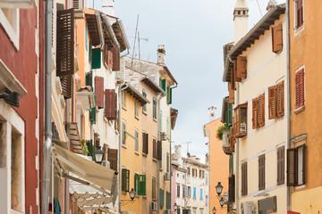 Rovinj, Istria, Croatia - Coloured facades at the city center of Rovinj