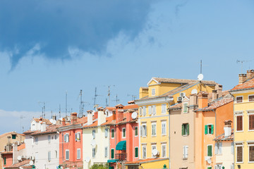 Rovinj, Istria, Croatia - Colourful facades in the old town of Rovinj