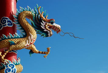 Another animal dragon That the Chinese people respect and worship, pay homage to fortune