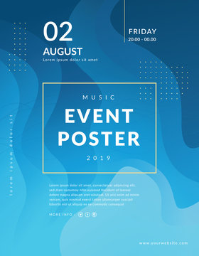 Abstract poster event template. Fluid shapes composition. Modern event poster template, Futuristic design posters. Liquid color background design