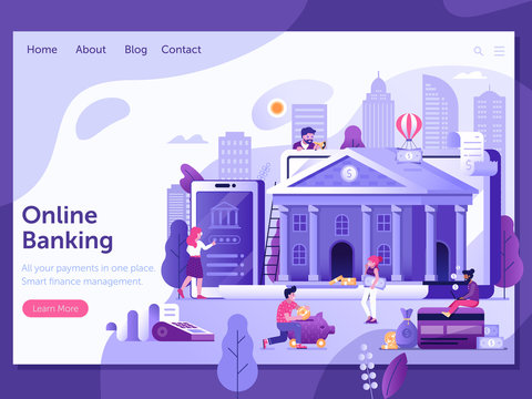 Online Banking and Finance Landing Page Template