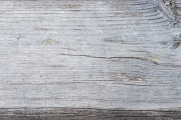 Macro texture of old, grey, wooden Board.