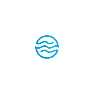 circle wave logo vector illustration icon
