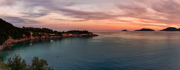 Golfo di Lerici al tramonto