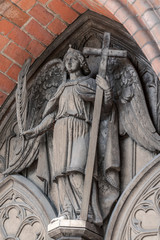 Detail photo of an angel statue at Bad Doberan cathedral