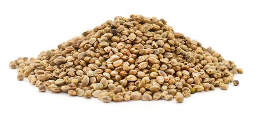 Fototapeta Pile of hemp seeds. obraz