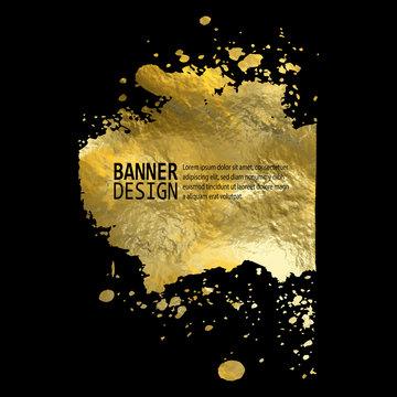 Gold Texture Paint Stain Illustration. Abstract vector illustration. eps 10