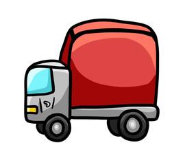 Keuken foto achterwand Cars Cartoon Stylized Red Toy Truck