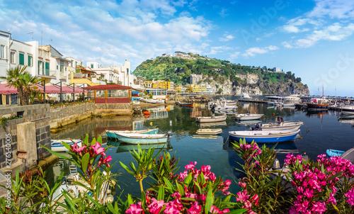 Wall mural Landscape with Lacco Ameno, coast of Ischia, Italy