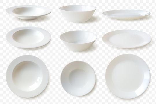 Realistic plates set