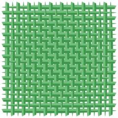 In de dag Draw Weaved Coconut Leaf Green Vector Background