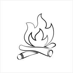 Campfire Icon, Camp Fire