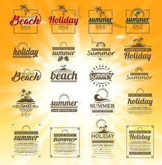 shiny holiday labels