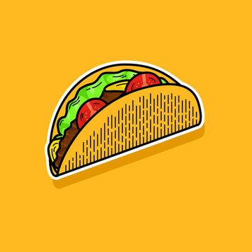 Vector Illustration of Taco Icon Logo