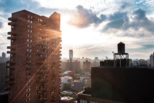 Harlem am Abend, blick aus dem 23. Stock eines Apartments in Harlem.