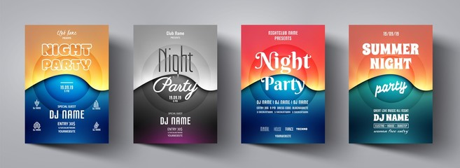 Party flyer,poster template.Abstract background design banner for music night club,disco club,dance event,invitation,dj card,holiday,celebration,entertainment,show,concert.Modern vector illustration.