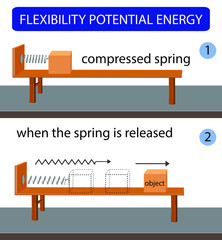 flexibility potential energy. kinetic energy. potential and kinetic energy. energy conversion. science