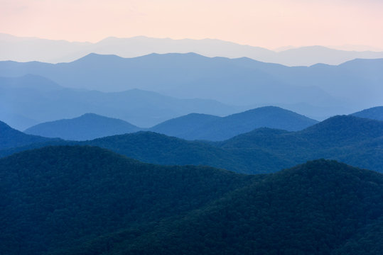 View of Smoky Mountains from Blue Ridge Parkway