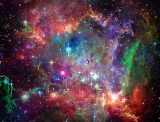 Fototapete - Big Babies in the Rosette Nebula