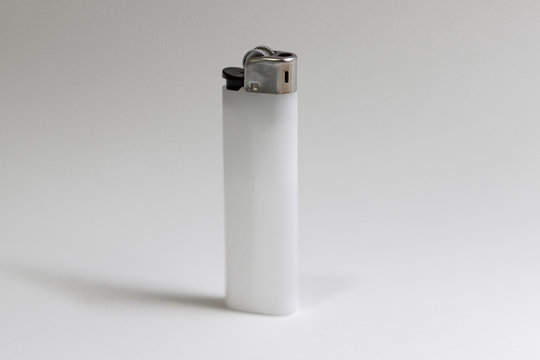 Close-up shoot of white color of lighter perspective angle