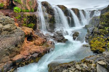 Kolugljufur waterfall on Island