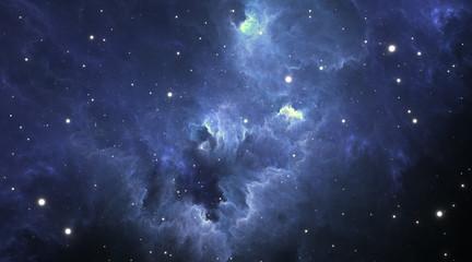 Stellar system and gas nebula.