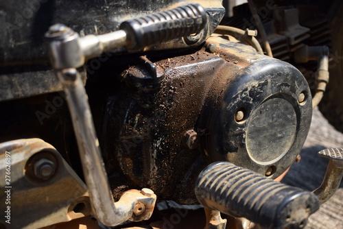 Oil Leak Repair >> Old Motorbike Damaged Oil Leak Waiting For Repair Stock