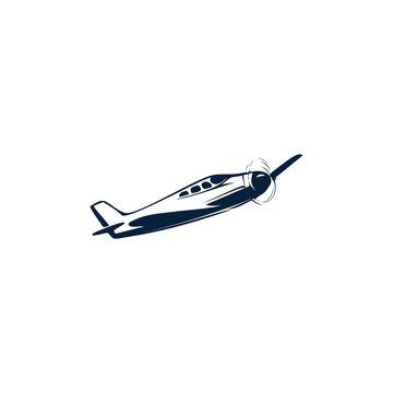 simpla vintage plane vector logo