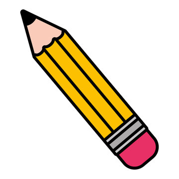 pencil supply school on white background