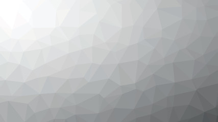 Black and White Abstract Low Poly Background. Geometric backdrop in Origami style with gradient. Textured pattern for your website.