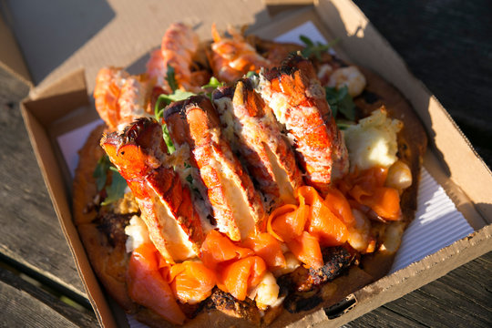 Lobster pizza from Vancouver, Canada
