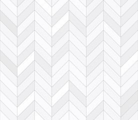 White tiles, seamless pattern, chevron. Vector illustration