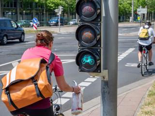 grünes Licht für umweltfreundliches Fahrradfahren