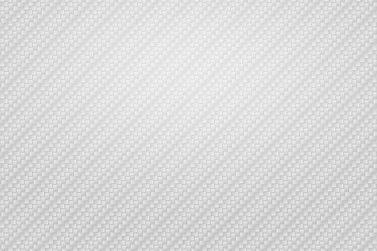 Vector Abstract white carbon fiber background, Kevlar seamless pattern wallpaper, white modern geometric texture