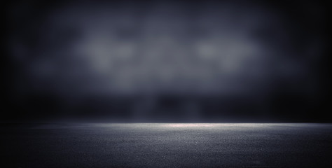 Dark room with light background. Wall mural