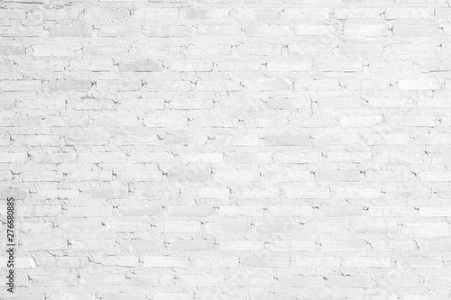 Wall white brick wall texture background  Brickwork or